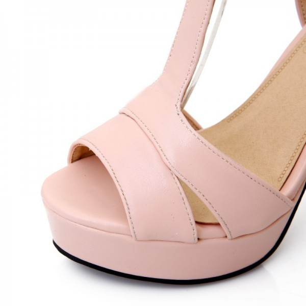 Hot Summer Women Sandals Fashion High Heels Sandal Sexy Gladiator T Strap Platform Party Dress Shoes Woman Extra Image 4