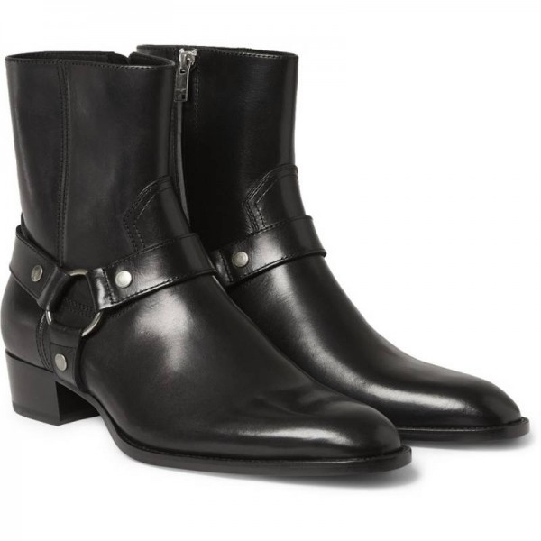 Italian Brand Chelsea Boots Genuine Leather Ankle Boots