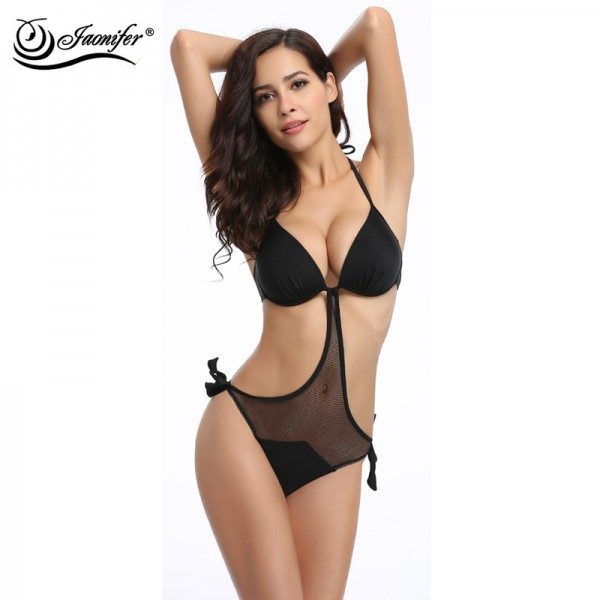 9ae0cd0cd08 Buy Jaonifer Bikini 2018 Swimwear Sexy Mesh Bandage Backless Push Up Swimsuits  Bathing Suits For Women