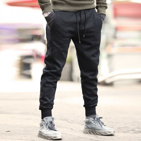 Joggers men Top quality brand clothing casual pants men male sweatpants trousers Dark Grey men solid autumn winter Extra Image 3
