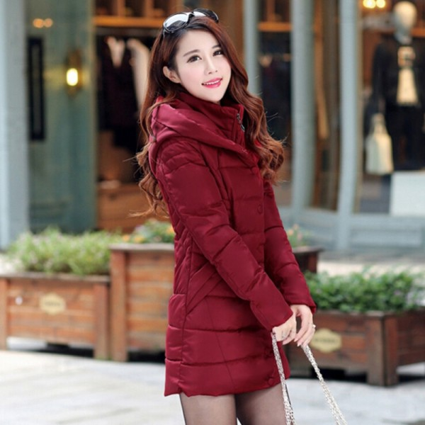 JOLINTSAI Winter Jacket Women Mid Long Hooded Parkas Mujer Thick Cotton Padded Coats Casual Slim Winter Coat Women Extra Image 2