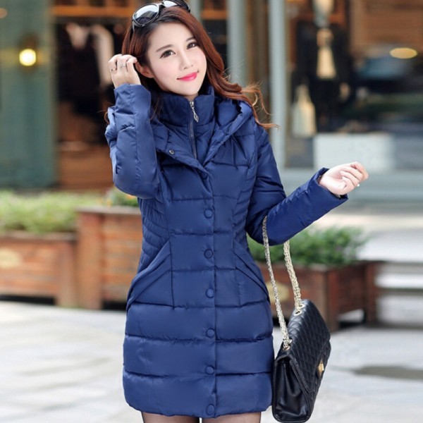 JOLINTSAI Winter Jacket Women Mid Long Hooded Parkas Mujer Thick Cotton Padded Coats Casual Slim Winter Coat Women Extra Image 4