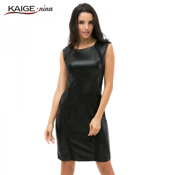 Kaige Nina New Fashion Women Brief Push Up Sleevless Knee Length Autumn Dress Women Thumbnail