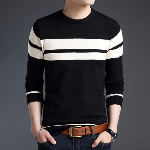 Khaki Cotton Sweater Men Autumn Winter Thick Warm Wool Sweaters Casual Slim Fit O Neck Pullovers Men Cashmere Pull Extra Image 1