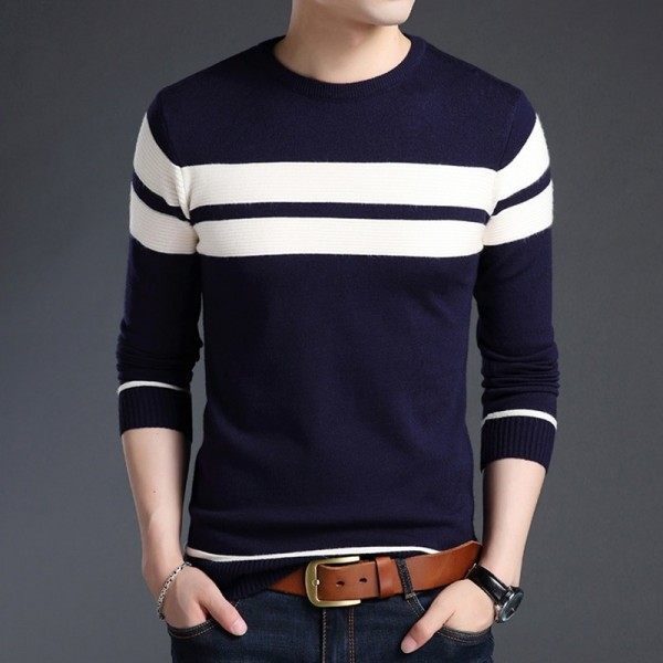 Khaki Cotton Sweater Men Autumn Winter Thick Warm Wool Sweaters Casual Slim Fit O Neck Pullovers Men Cashmere Pull Extra Image 2