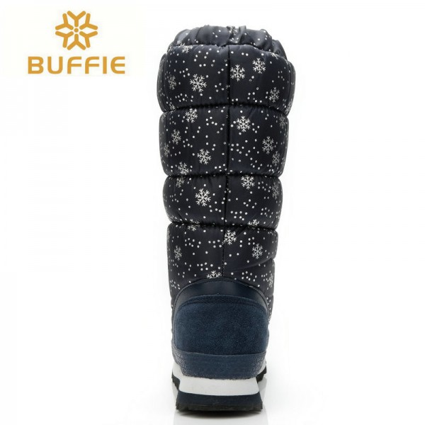 Knee high boots big size warm boots with fur winter hot selling female bootie brand snow boots hot lady winter shoes Extra Image 3