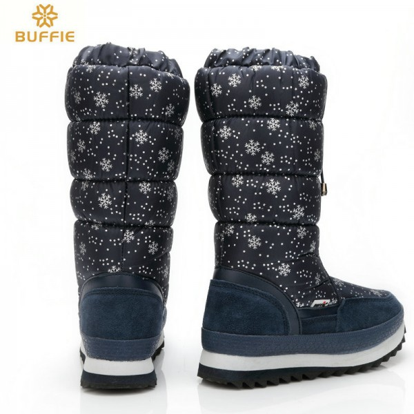 Knee high boots big size warm boots with fur winter hot selling female bootie brand snow boots hot lady winter shoes Extra Image 4