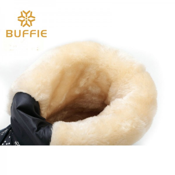 Knee high boots big size warm boots with fur winter hot selling female bootie brand snow boots hot lady winter shoes Extra Image 5