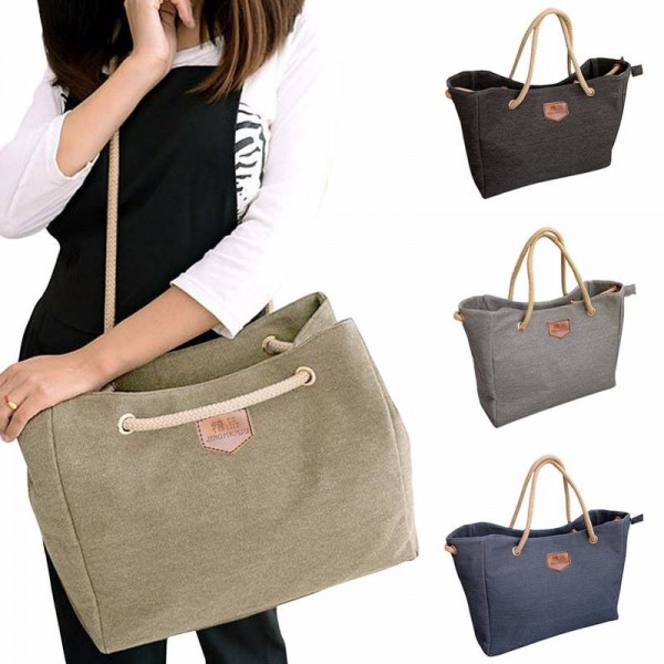 b06d921d06 Korean Style Simple Casual Canvas Shoulder Bags Diagonal Ladies New  Thumbnail ...