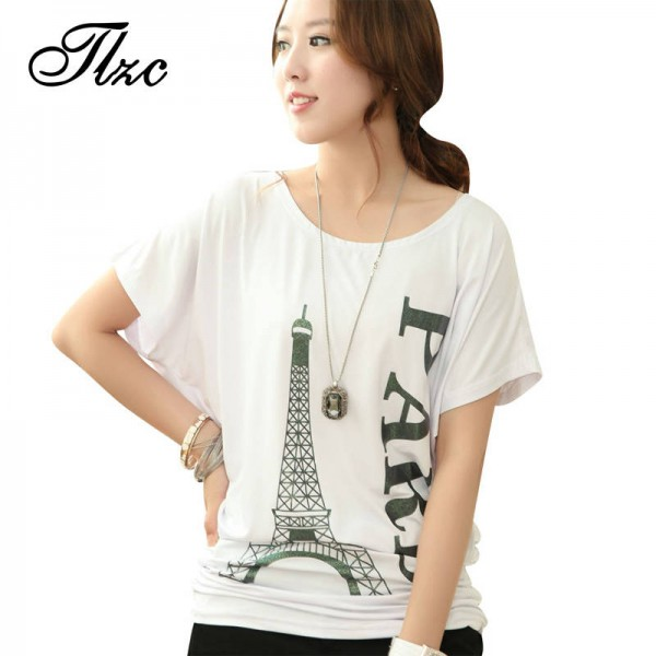 d0ea9a3493c068 Korean Style Women Fashion T Shirts Plus Size Top Quality O Neck Letter  Printed Women Casual ...