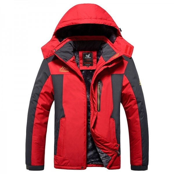 Large Size 2019 Top Quality Warm Outwear Winter Jacket Men Thick Warm Windproof Jacket Coat Casual Men Coat Extra Image 2