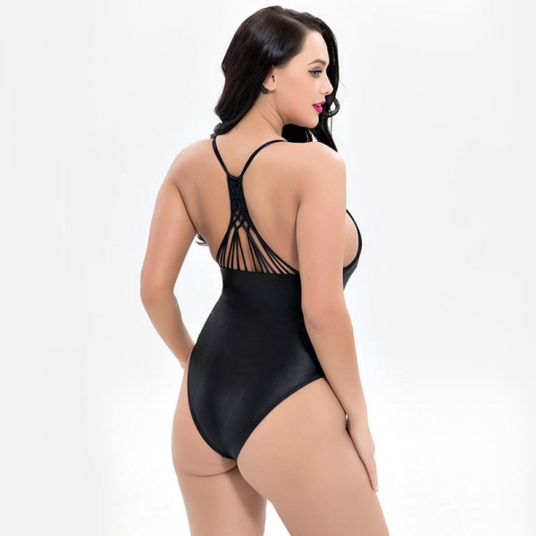 Large Size Bather Sexy Women Swimwear One Piece Swimsuit Backless Monokini Female Plus Size Bathing Suits Extra Image 3