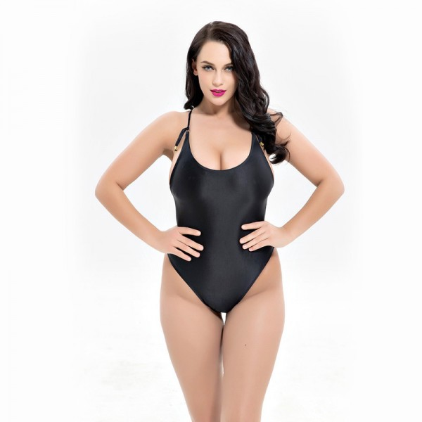 Large Size Bather Sexy Women Swimwear One Piece Swimsuit Backless Monokini Female Plus Size Bathing Suits Extra Image 5