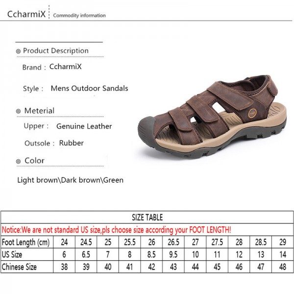 Large Size Genuine Leather Men Sandals Gladiator Summer Beach Sandals Casual Outdoor Ultra Light Sandal Men Flats Extra Image 5