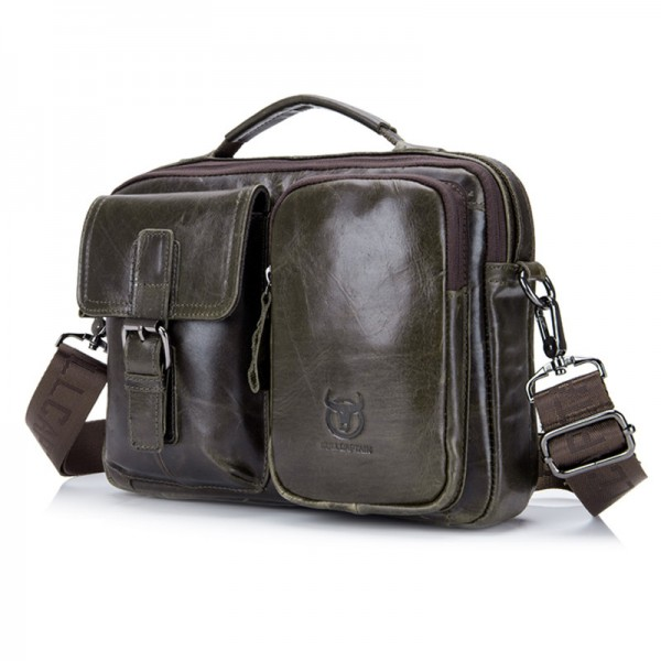 Leather Briefcase For Men Messenger Laptop Bag Business Bags Doent Shoulder Handbags