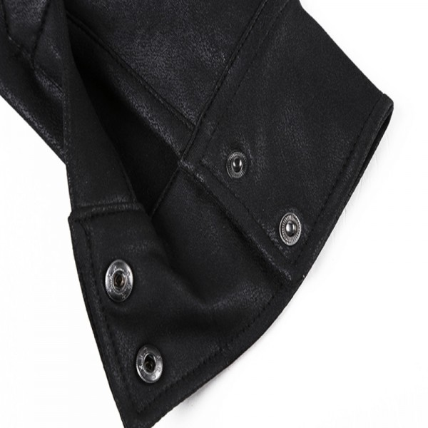leather Jacket Shirts Men Plus velvet camisa social masculina Brand warm Slim Fit men black shirt long sleeve Autumn Extra Image 6