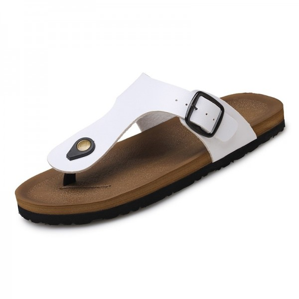 Leather Sandals Men Black Brown Flip Flops Casual Flat Sandals Summer Beach Slipper Men Comfort Design Flip Flops Shoes Extra Image 4