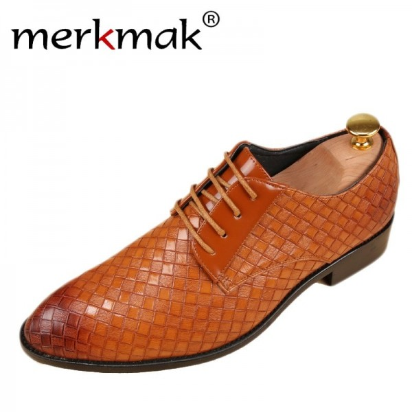 Leather Shoes Men Business Leather Casual Shoes Fashion Lace Up Dress Shoes For Men High Quality Spring Winter Footwear Extra Image 1