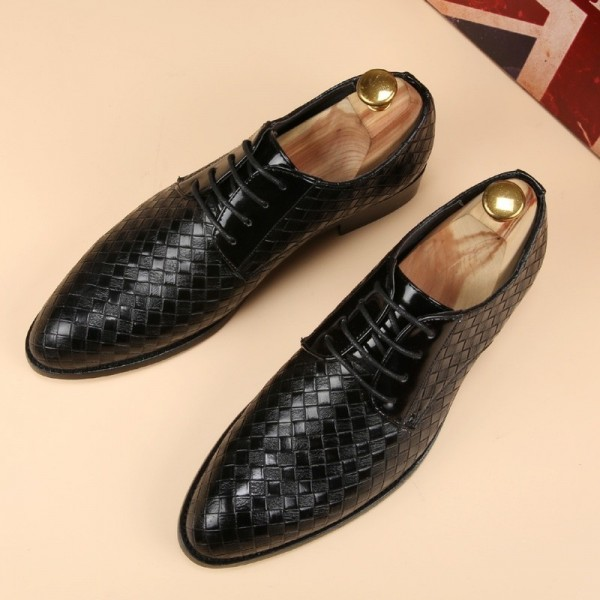 Leather Shoes Men Business Leather Casual Shoes Fashion Lace Up Dress Shoes For Men High Quality Spring Winter Footwear Extra Image 3