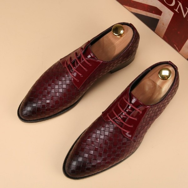 Leather Shoes Men Business Leather Casual Shoes Fashion Lace Up Dress Shoes For Men High Quality Spring Winter Footwear Extra Image 4