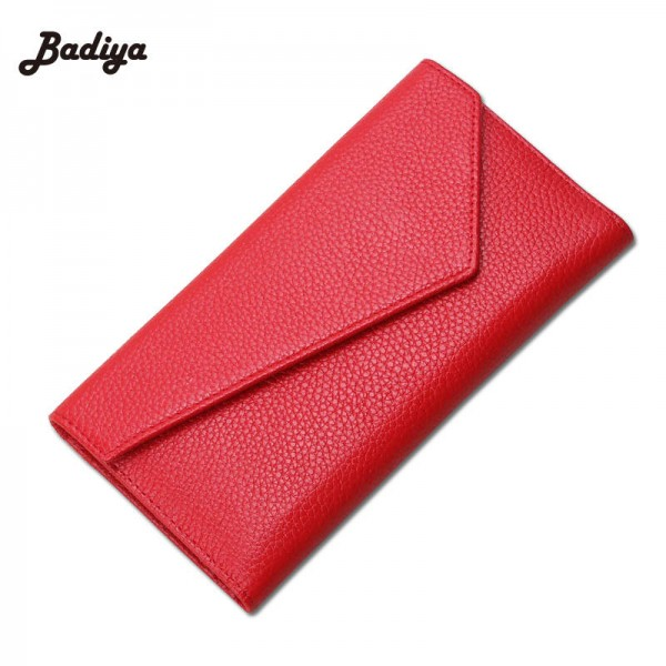 Leather Women Wallet Long Female Wallet Three Fold Day Clutch Soft Envelope Purse For Women Thumbnail
