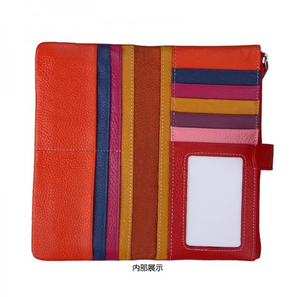 Leather Women Wallets Long Style Coin Purse Ladies Zipper Hasp Card Holder Vintage Litchi Pattern Clutch Wallets Extra Image 5