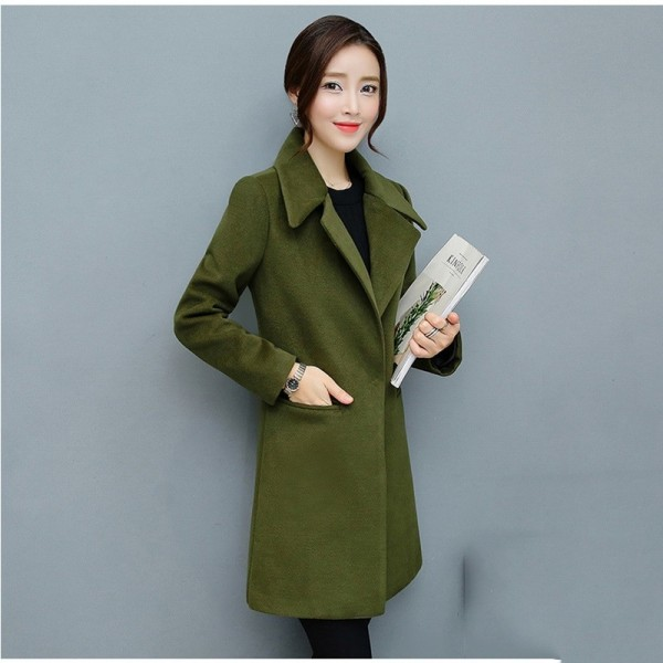 Leisure Elegant Ladies Woolen Long Coats Autumn Winter Fashion Thick Ladies Solid Bodycon Women Jackets Outerwear Extra Image 5
