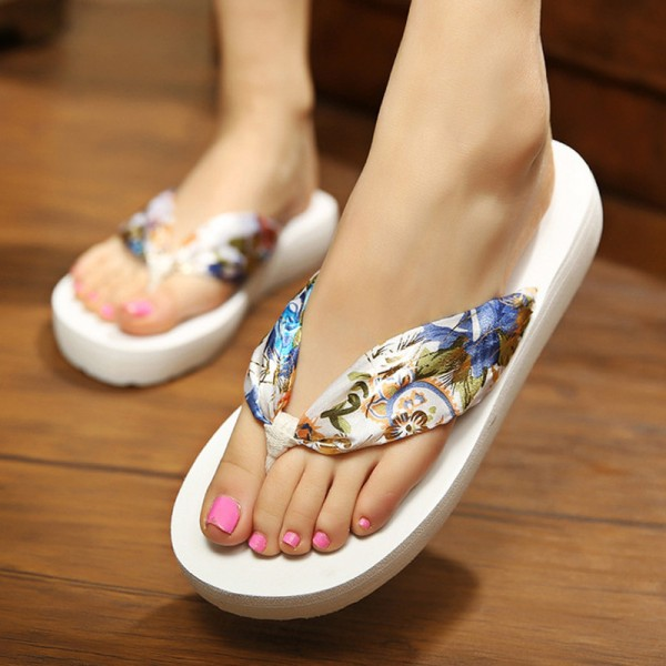 Leopard Flip Flops 2018 Slip On Slides Casual Creepers Summer Style Platform Shoes Woman Plus Size Slippers Extra Image 4
