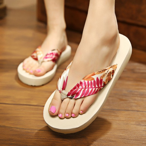 Leopard Flip Flops 2018 Slip On Slides Casual Creepers Summer Style Platform Shoes Woman Plus Size Slippers Extra Image 5
