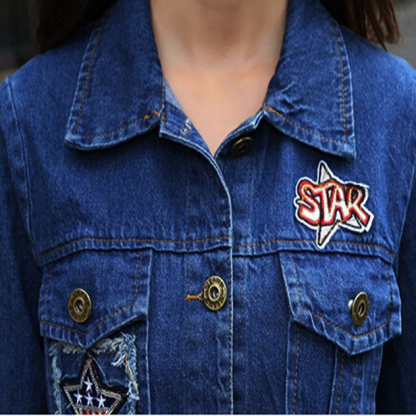 Long Denim Jacket Women 2016 New Women Jeans Jackets Korean Female Coat Hole Casual Women Outwear Extra Image 4