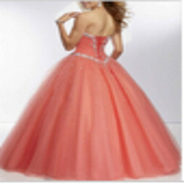 Long Prom Dress Beading Sweetheart A Line Lace Up Floor Length Women Thumbnail