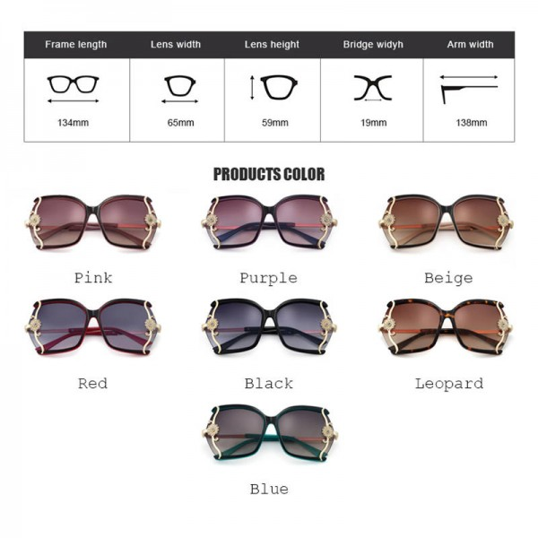 Luxury High Quality Butterfly Designer Sunglasses For Women With Original Box Leopard Alloy Frame Shades Extra Image 3