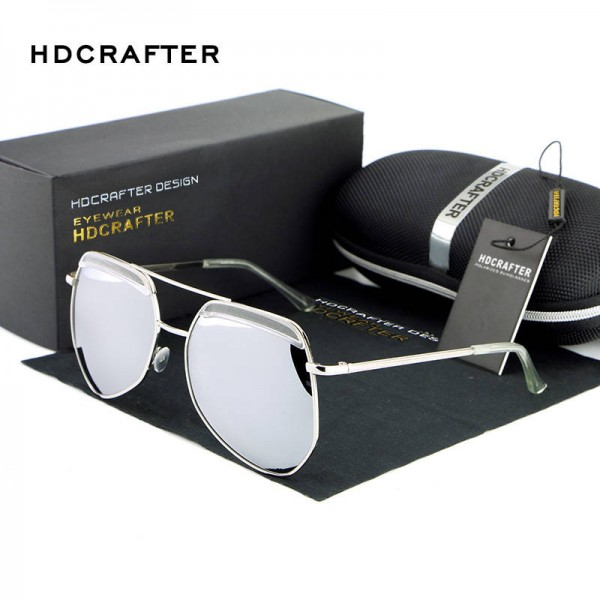 Luxury Ladies Sunglasses Frog Mirror Metal Frame Polarized UV400 Metal Frame Designer Sunglasses For Women Extra Image 1