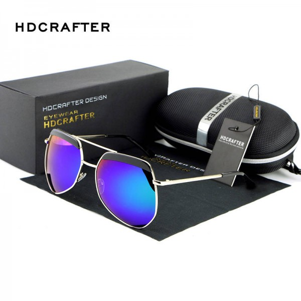 Luxury Ladies Sunglasses Frog Mirror Metal Frame Polarized UV400 Metal Frame Designer Sunglasses For Women Extra Image 2