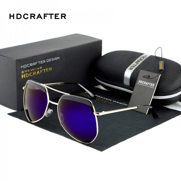 Luxury Ladies Sunglasses Frog Mirror Metal Frame Polarized UV400 Metal Frame Designer Sunglasses For Women