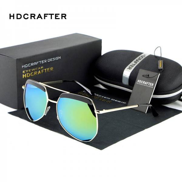 Luxury Ladies Sunglasses Frog Mirror Metal Frame Polarized UV400 Metal Frame Designer Sunglasses For Women Extra Image 4