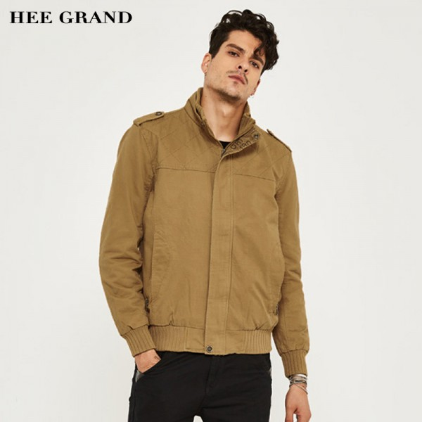 Men Autumn Winter Jacket  Slim Style Casual Jacket 2 Colors M XXXL Lining Warm Outwear High Quality Mens Outwear Extra Image 2