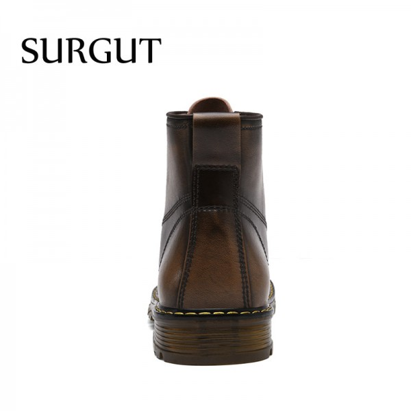 Men Boots Autumn Winter Warm Fur High Quality Split Leather Waterproof Footwear Fashion Comfortable Men Ankle Boots Extra Image 4