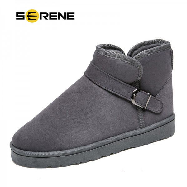 Men Boots Fashion British Style Suede Slip On Ankle Male Shoes Plus Size 40 45 Teenager Non Slip Snow Footwear Extra Image 1