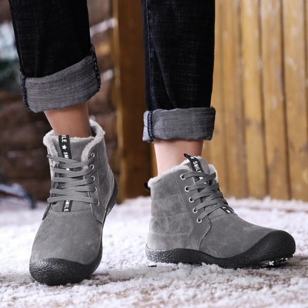 Men Boots Fur Warm 2019 New Winter Men Shoes Plus Size Winter Boots Men Snow Big Warm Ankle Boots Extra Image 4