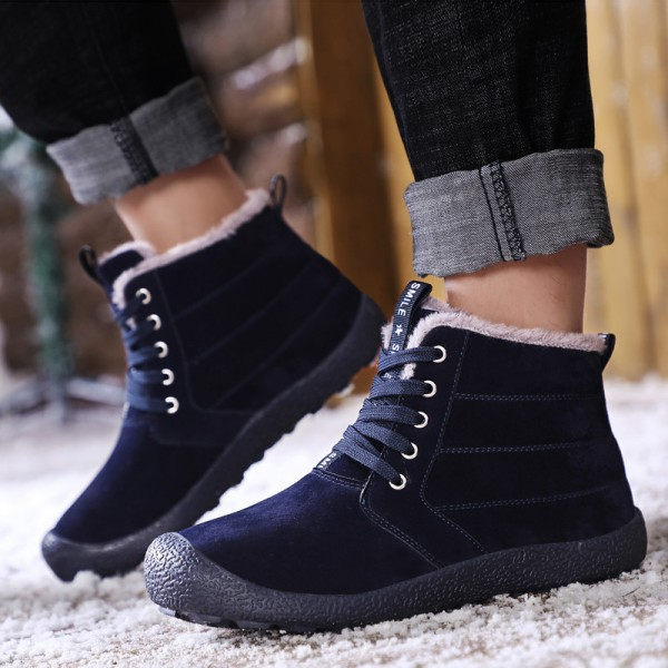 Men Boots Fur Warm 2019 New Winter Men Shoes Plus Size Winter Boots Men Snow Big Warm Ankle Boots Extra Image 5