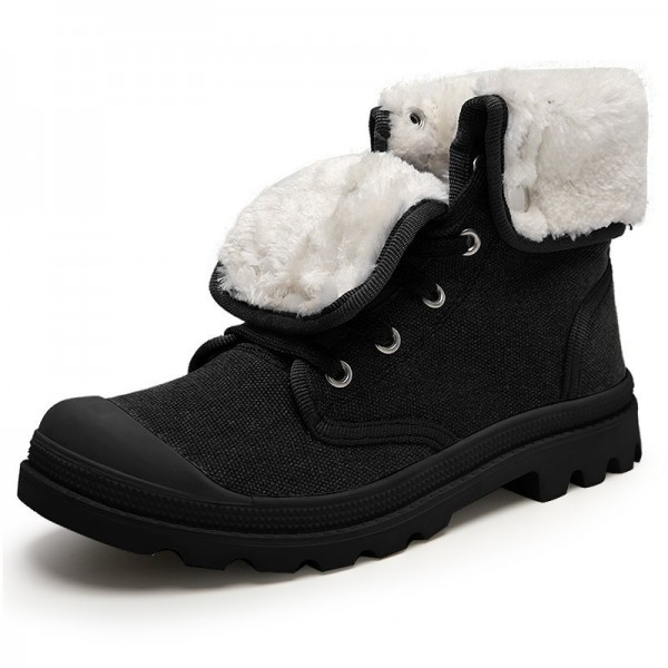 Men Boots Fur Warm Winter Shoes Men Black Gray Yellow Winter Boots Men Top Quality Ankle Boots For Men Extra Image 2