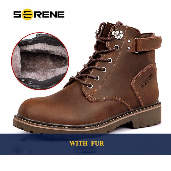 Men Boots Plus Size 37 45 Winter Boot Casual Shoes British Style Tooling Boots Desert Boots Working Male Footwear Shoes Extra Image 6