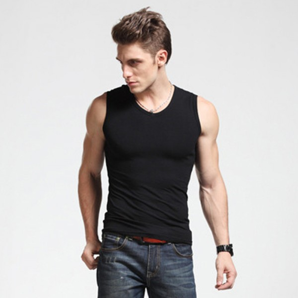Men Boy Body Compression Base Layer Sleeveless Summer Vest Thermal Under Top Tees Tank Fitness Tights High Flexibility Extra Image 2