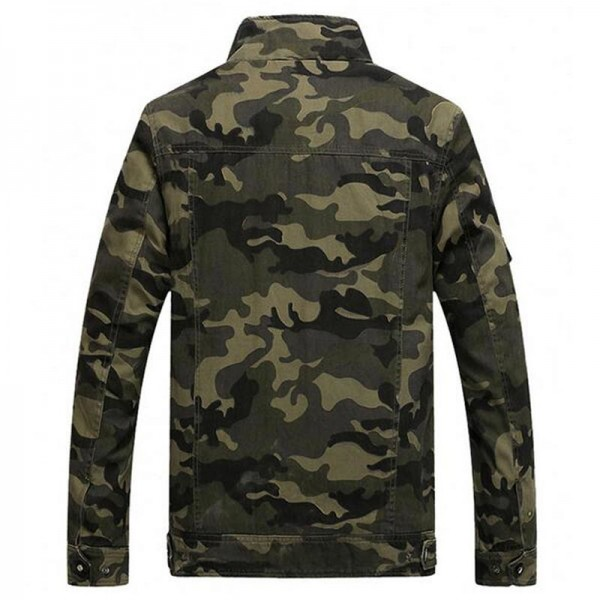 Men Camouflage Jackets New Arrival Spring  Autumn Straight High Quality Military Coats Plus Male Outwear Extra Image 2