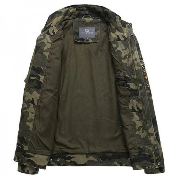 Men Camouflage Jackets New Arrival Spring  Autumn Straight High Quality Military Coats Plus Male Outwear Extra Image 3