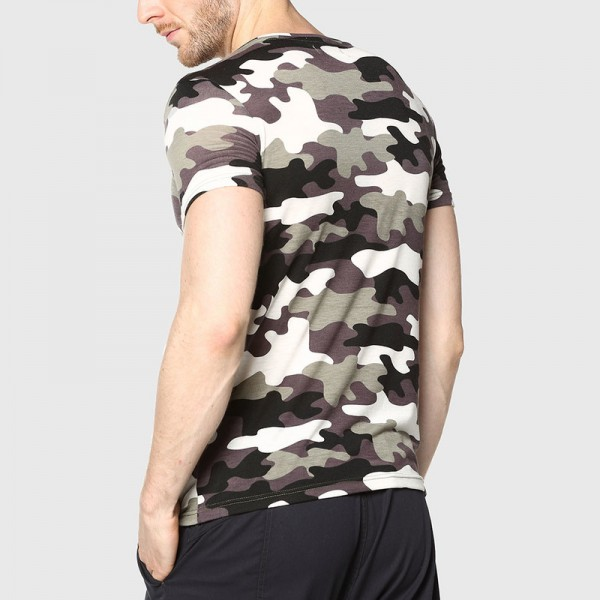 Men Camouflage T Shirt Camo Male Army Military T Shirt Casual Top Tees Men Tshirts Menswear Cool Summer Wear Extra Image 3