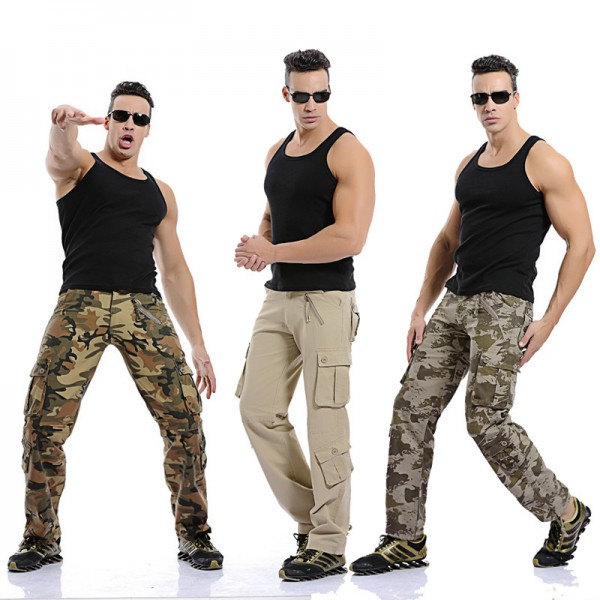 Men Cargo Pants High Quality Camouflage Pants Fashion Military Trousers Summer Spring Casual Brand Clothing Extra Image 1