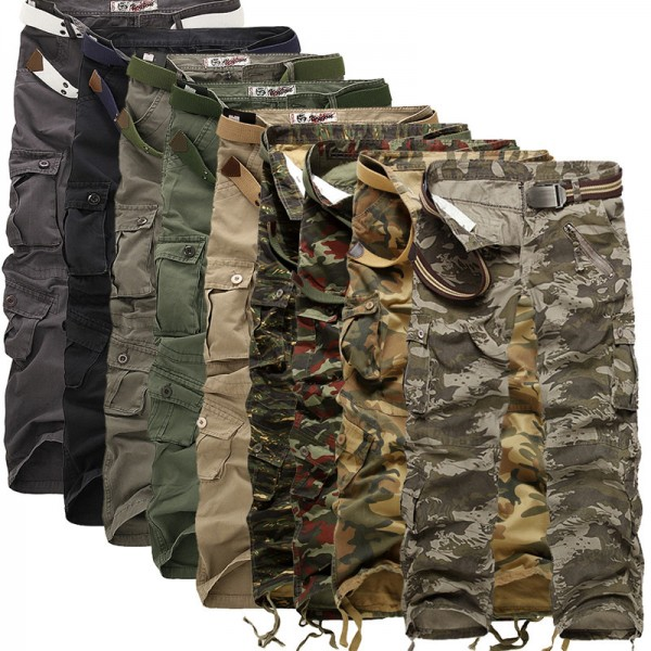 Men Cargo Pants High Quality Camouflage Pants Fashion Military Trousers Summer Spring Casual Brand Clothing Extra Image 2