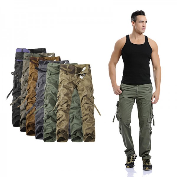 Men Cargo Pants Hot Sale Plus Size Military Trousers Army Clothing Brand Casual Pants Fashion Cargo Pants Men 6 Colors Extra Image 2